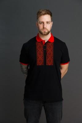 """Мужская рубашка поло с вышивкой """"Свет Солнца"""". Фото 1"""