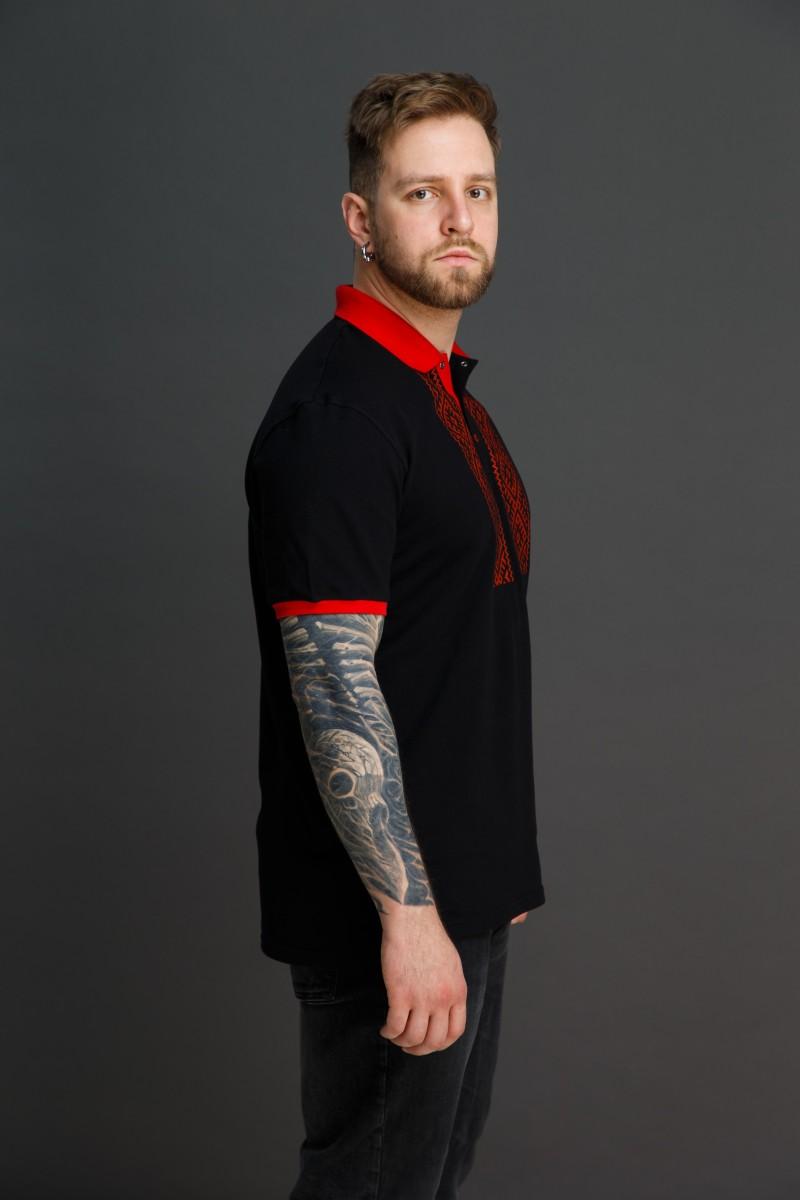 """Мужская рубашка поло с вышивкой """"Свет Солнца"""". Фото 2"""