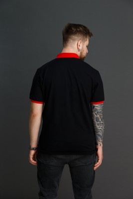 """Мужская рубашка поло с вышивкой """"Свет Солнца"""". Фото 3"""
