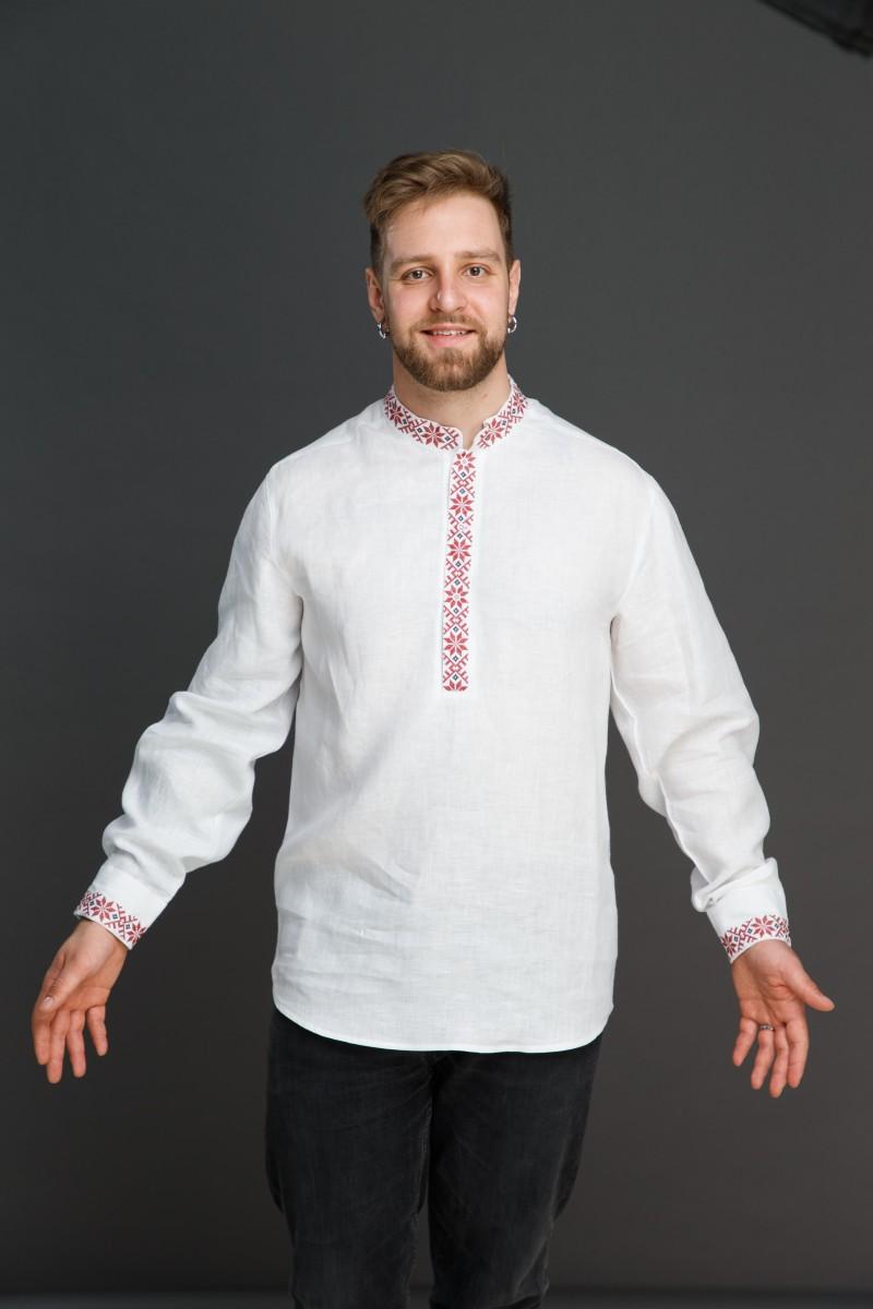 "Мужская льняная рубашка ""Праздничная"". Фото 1"
