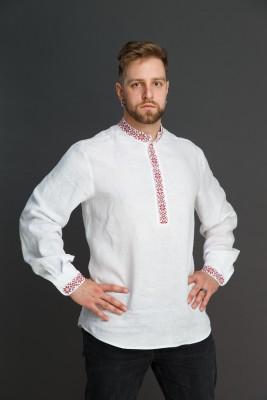 "Мужская льняная рубашка ""Праздничная"". Фото 2"