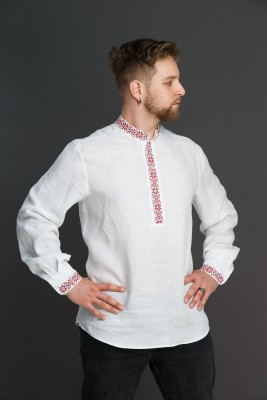 "Мужская льняная рубашка ""Праздничная"". Фото 3"