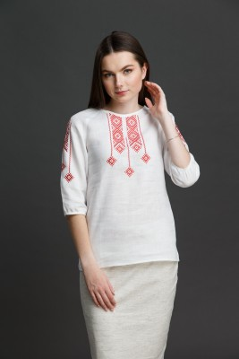 """Жаночая блузка з вышыўкай """"Сонечная"""" SAROCHKAW001"""
