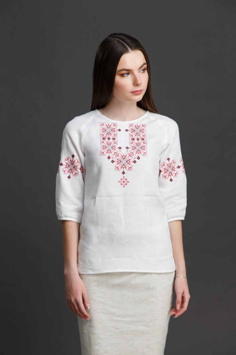 """Женская блузка с вышивкой """"Узорная"""". Фото 4"""