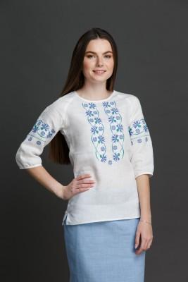 """Жаночая блузка з вышыўкай """"Валошкавая"""" SAROCHKAW003"""