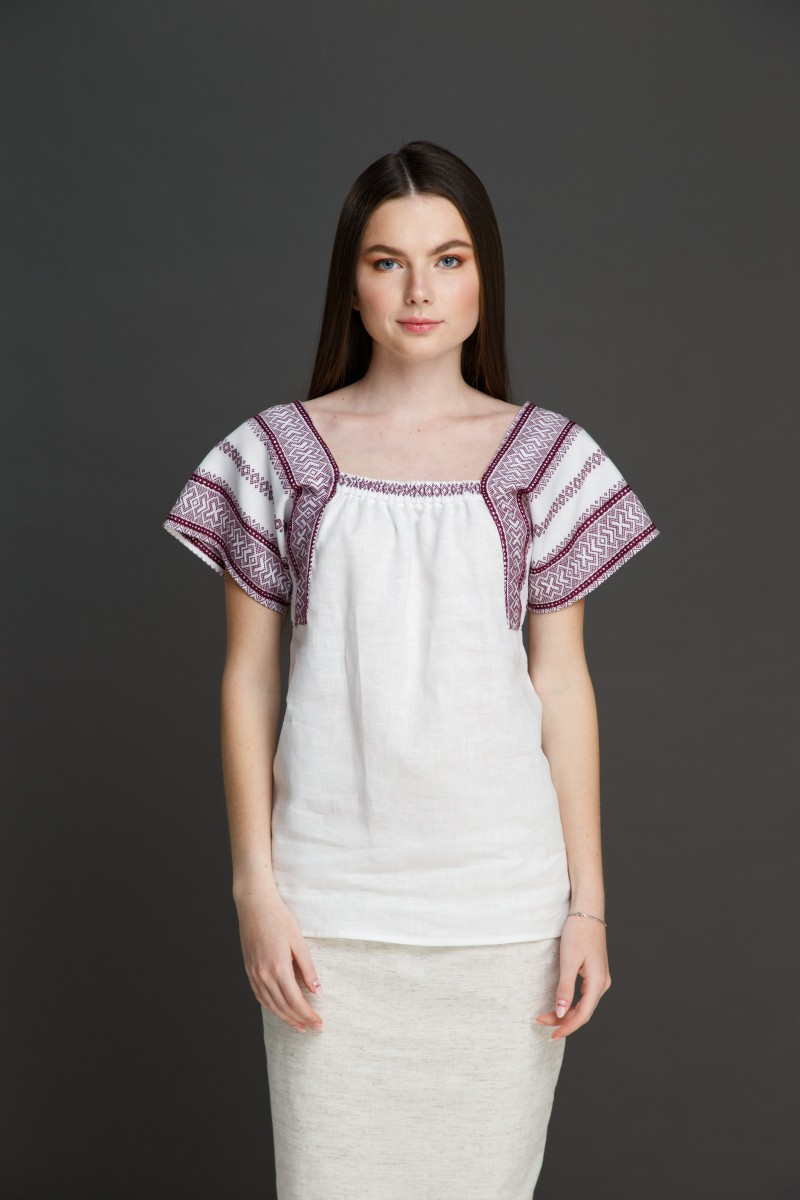 "Женская блузка ""Трапеция"" с орнаментом . Фото 0"