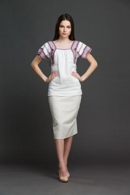 "Женская блузка ""Трапеция"" с орнаментом . Фото 1"