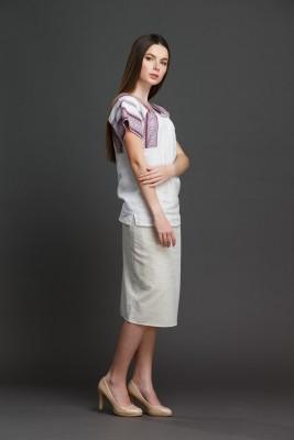"Женская блузка ""Трапеция"" с орнаментом . Фото 3"