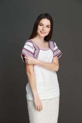 "Женская блузка ""Трапеция"" с орнаментом . Фото 4"