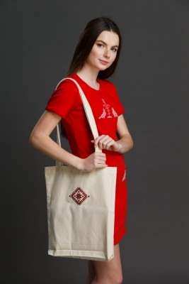 "Эко-сумка с вышивкой ""Вселенная"" EKOTORBA002"