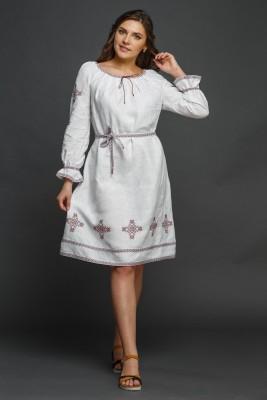 """Женское льняное платье с вышивкой """"Купалинка"""". Фото 1"""