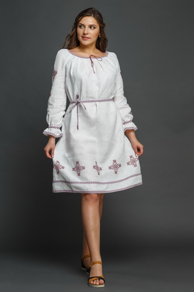 """Женское льняное платье с вышивкой """"Купалинка"""". Фото 2"""