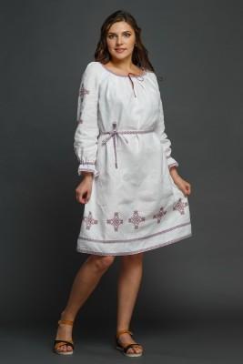 """Женское льняное платье с вышивкой """"Купалинка"""". Фото 3"""
