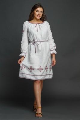 """Женское льняное платье с вышивкой """"Купалинка"""". Фото 4"""