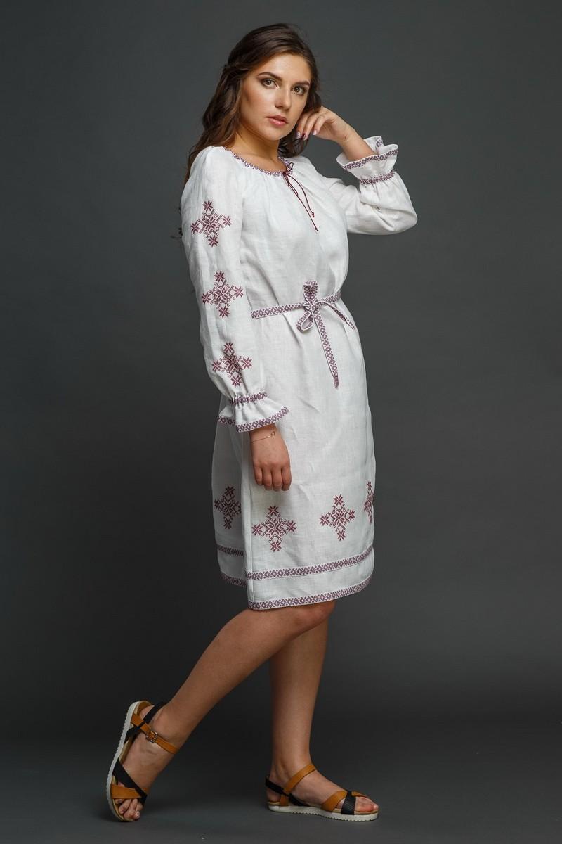 """Женское льняное платье с вышивкой """"Купалинка"""". Фото 5"""