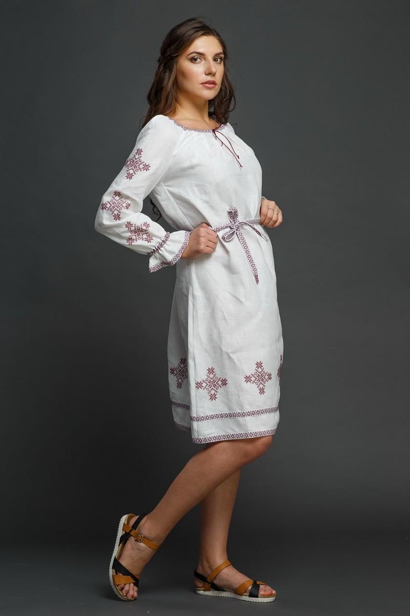 """Женское льняное платье с вышивкой """"Купалинка"""". Фото 0"""