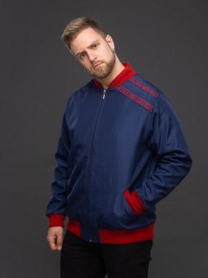 Куртка-бомбер тёмно-синий. Фото 1