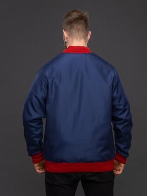 Куртка-бомбер тёмно-синий. Фото 4