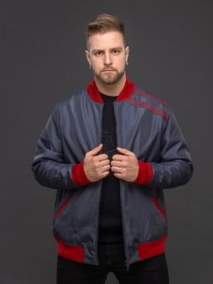 Куртка-бомбер тёмно-серый. Фото 0