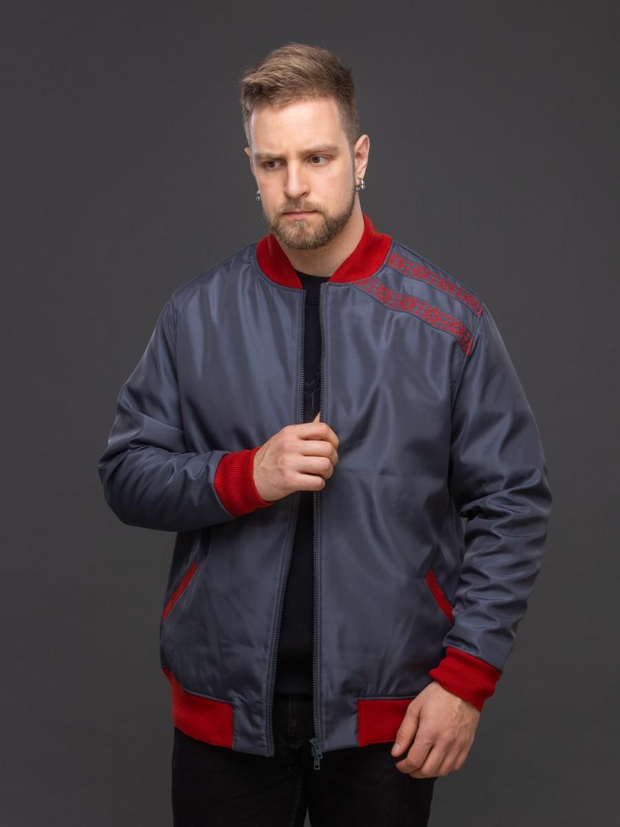 Куртка-бомбер тёмно-серый. Фото 1