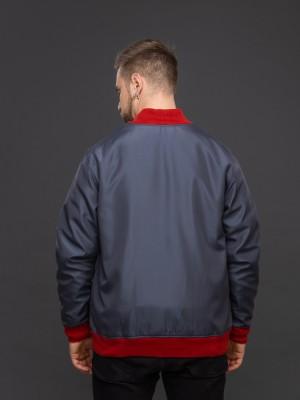 Куртка-бомбер тёмно-серый. Фото 3