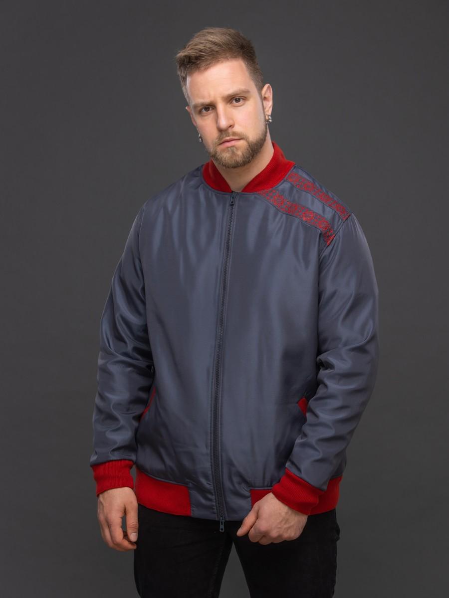 Куртка-бомбер тёмно-серый. Фото 4
