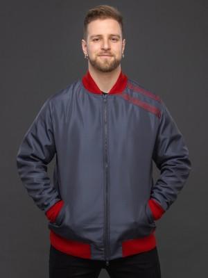 Куртка-бомбер тёмно-серый. Фото 5